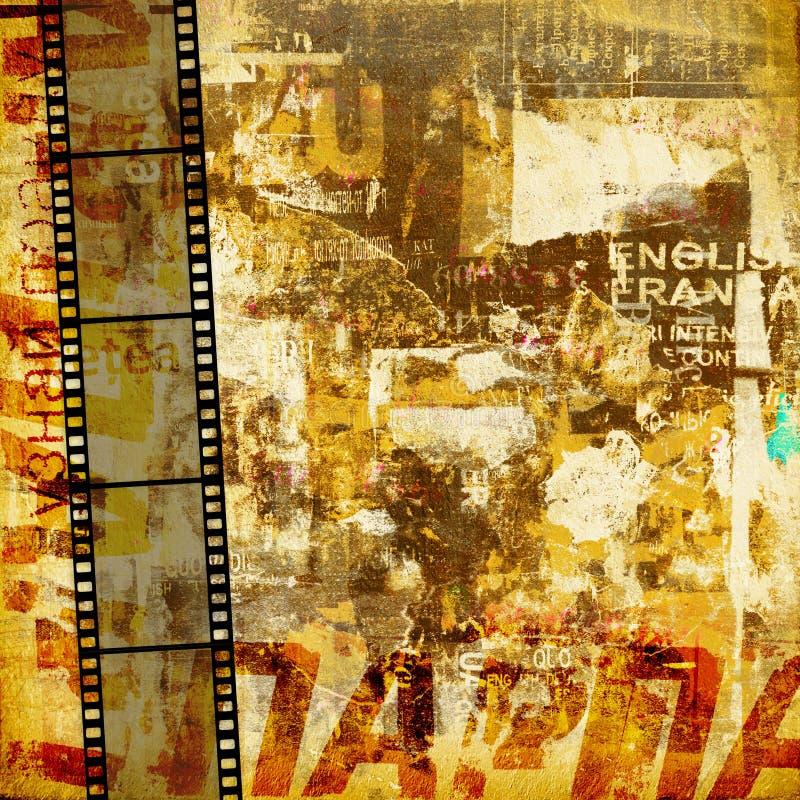 abstrakcjonistyczny tła grafiki grunge royalty ilustracja