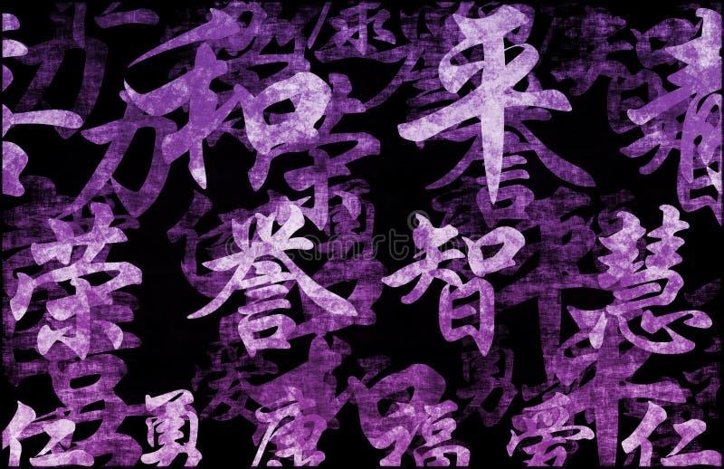 abstrakcjonistyczny tła grunge purpur zen ilustracji