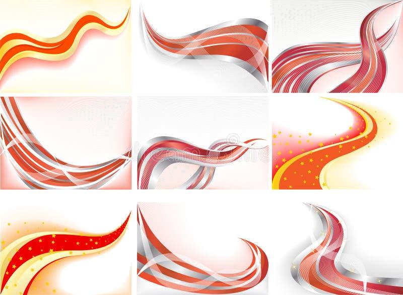 abstrakcjonistyczny tła kolekci wektor royalty ilustracja