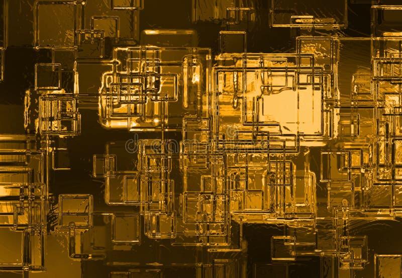 abstrakcjonistyczny tła kryształu złoto royalty ilustracja