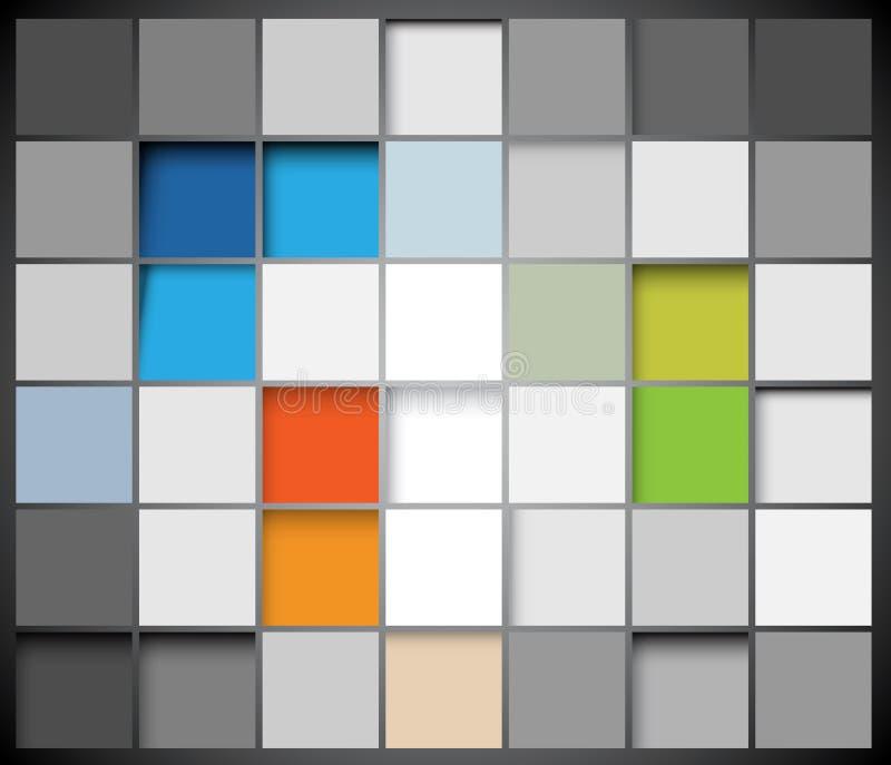 abstrakcjonistyczny tła kwadratów wektor ilustracji