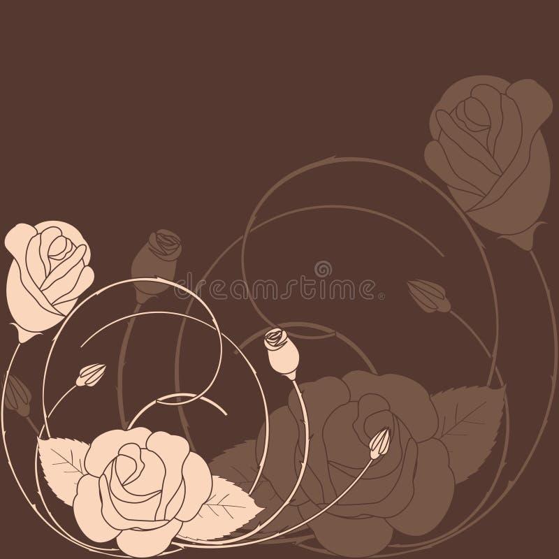 abstrakcjonistyczny tła kwiatu wzór wzrastał royalty ilustracja