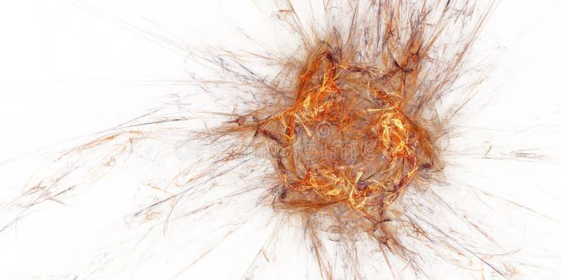 abstrakcjonistyczny tła ogienia fractal biel royalty ilustracja