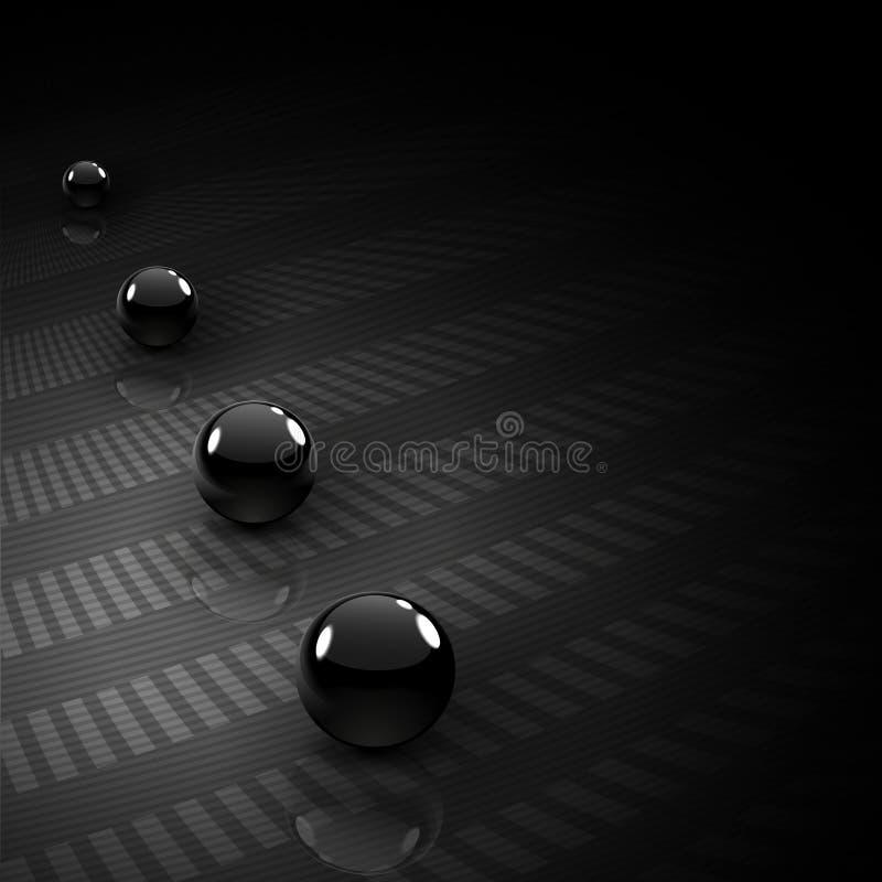 abstrakcjonistyczny tła piłek czerń chrom ilustracji