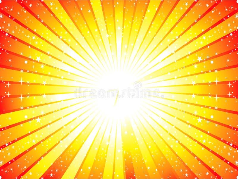 abstrakcjonistyczny tła sunbeam kolor żółty royalty ilustracja