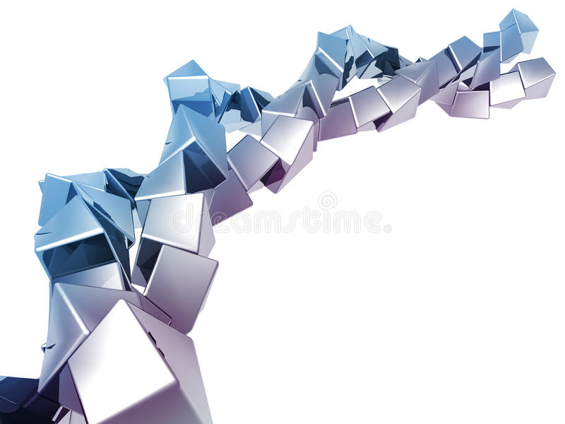 abstrakcjonistyczny tła sześcianu kształt ilustracji