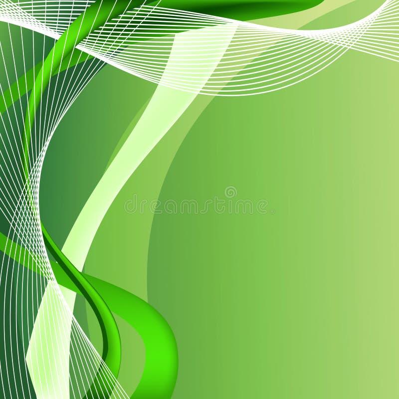 abstrakcjonistyczny tła zieleni ilustraci wektor ilustracji
