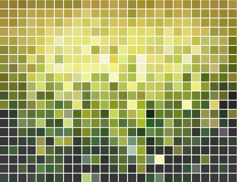 abstrakcjonistyczny tła zieleni mozaiki kwadrata kolor żółty ilustracji