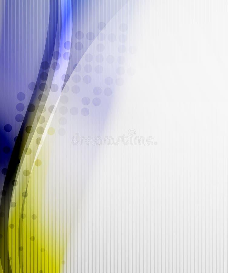 Abstrakcjonistyczny tło - Żółta błyszcząca zamazana fala ilustracja wektor