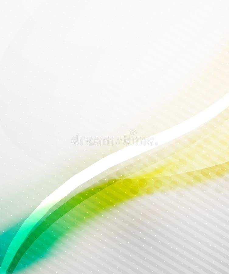 Abstrakcjonistyczny tło - Żółta błyszcząca zamazana fala ilustracji
