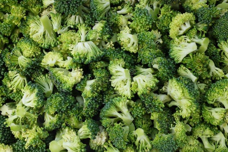 Abstrakcjonistyczny tło świezi, surowi calabrese brokułów florets, zdjęcie royalty free