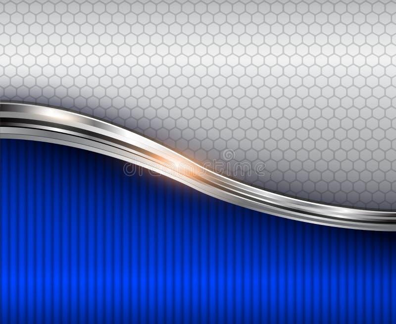 Abstrakcjonistyczny tło błękitny 3d błyszczący ilustracja wektor