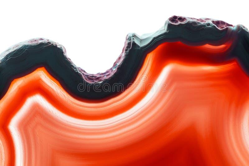 Abstrakcjonistyczny tło, czerwona agata plasterka kopalina fotografia stock