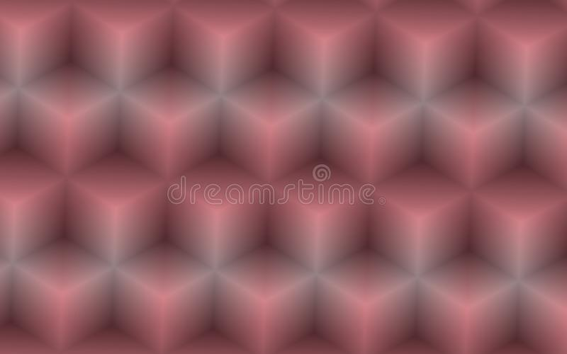 Abstrakcjonistyczny tło 3D sześciany w menchiach i siwieje kolory ilustracja wektor