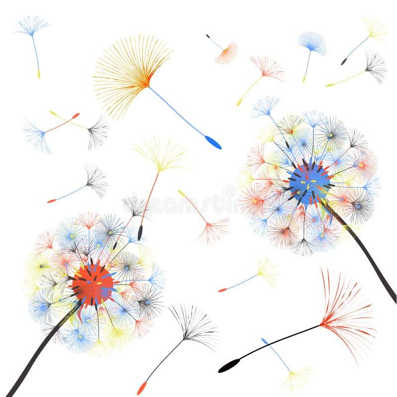 Abstrakcjonistyczny tło dandelion dla projekta ilustracji