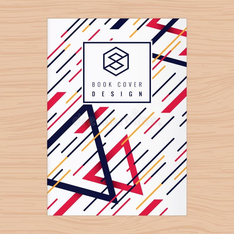 Abstrakcjonistyczny tło dla Książkowej pokrywy, Plakata Ulotka, Firma profil, sprawozdanie roczne projekta układu szablon w A4 ro ilustracji
