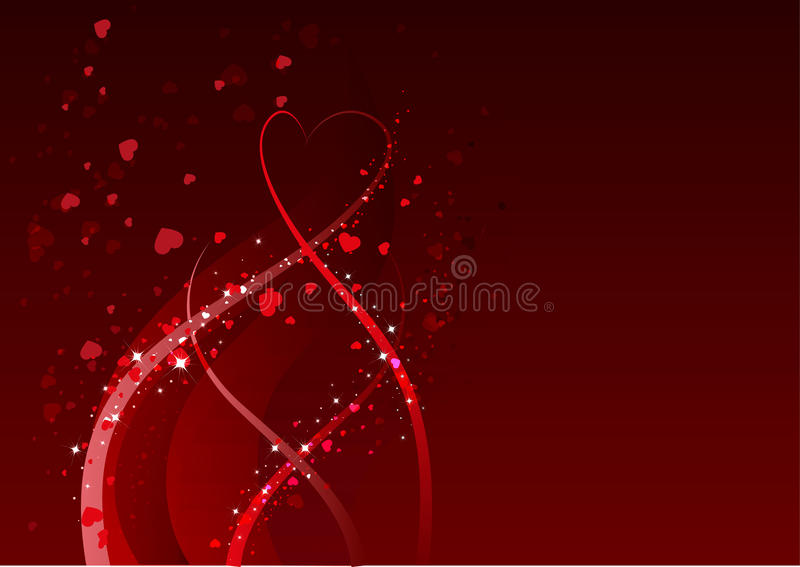 Abstrakcjonistyczny tło dla walentynka dnia Czerwony kierowy symbol miłość ilustracja wektor