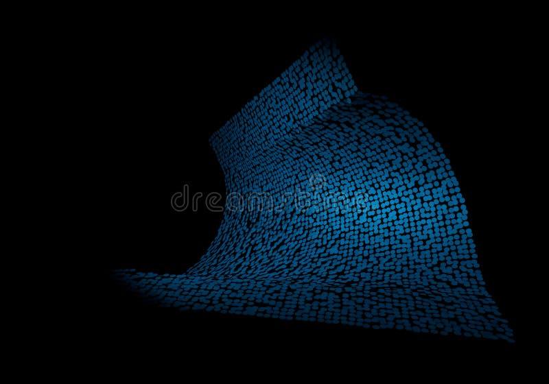 Abstrakcjonistyczny tło dostrzegający deseniowy błękit ilustracji