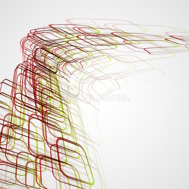 Abstrakcjonistyczny tło, futurystyczna ilustracja ilustracja wektor