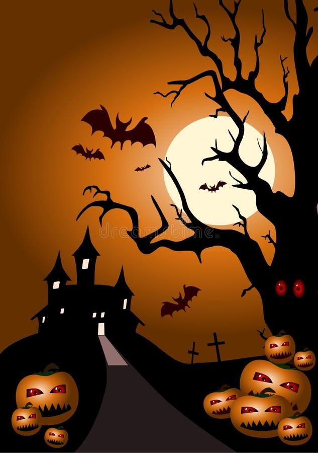 abstrakcjonistyczny tło Halloween ilustracji