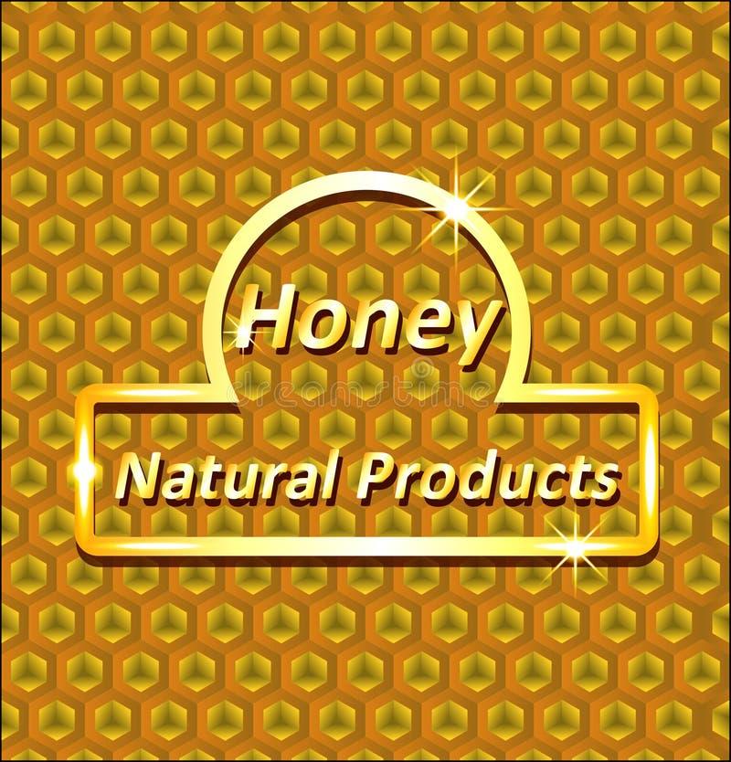 Abstrakcjonistyczny tło honeycombs ilustracja wektor