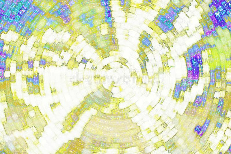 Abstrakcjonistyczny tło, abstrakcjonistyczny kolor żółty i błękita tło, ilustracja wektor