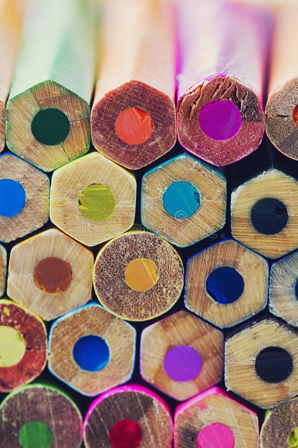 Abstrakcjonistyczny tło kolorowi ołówki obraz royalty free
