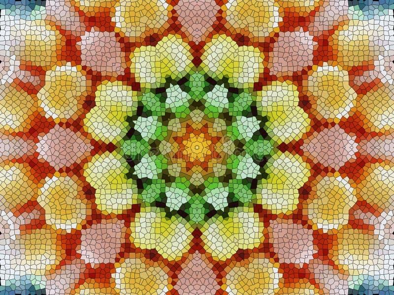 Abstrakcjonistyczny tło Kolorowy Voronoi kwiatu wzór ilustracja wektor