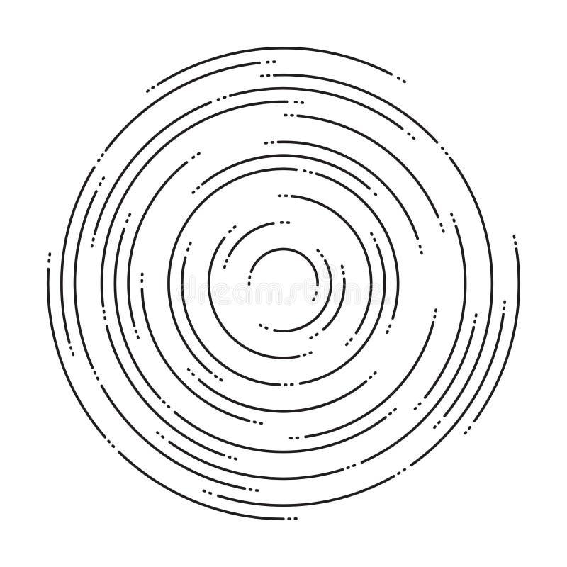 Abstrakcjonistyczny tło koncentryczni czochra okręgi royalty ilustracja