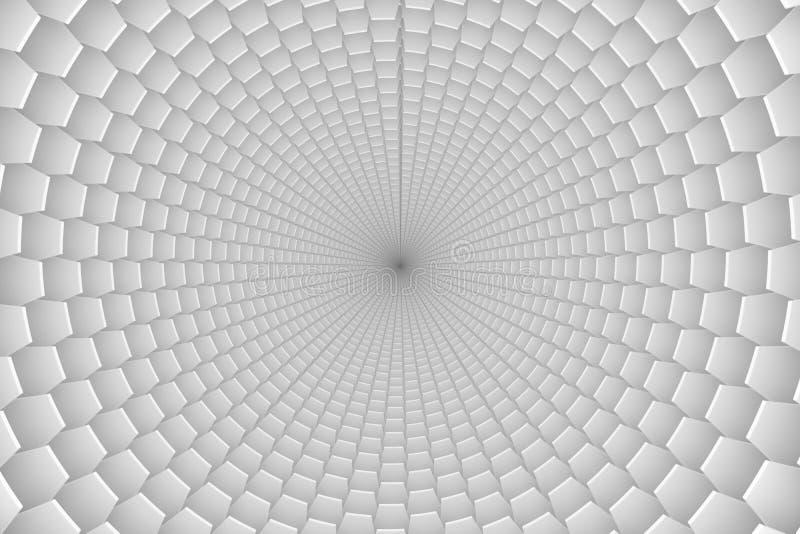abstrakcjonistyczny tło krzyżujący czarny i biały pudełka ilustracja wektor