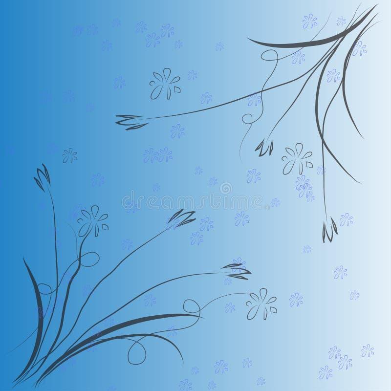 Abstrakcjonistyczny tło kwiatu obrazek, wektorowa ilustracja royalty ilustracja