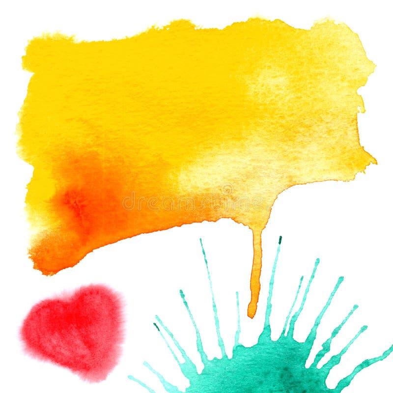 abstrakcjonistyczny tło malująca akwarela ilustracji