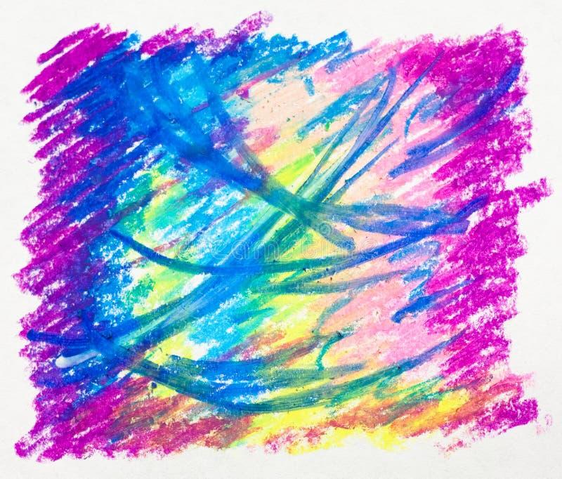 Abstrakcjonistyczny tło - obrazek, pastel, rysuje obrazy stock