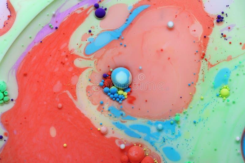 Abstrakcjonistyczny tło od akrylowych farb obrazy stock