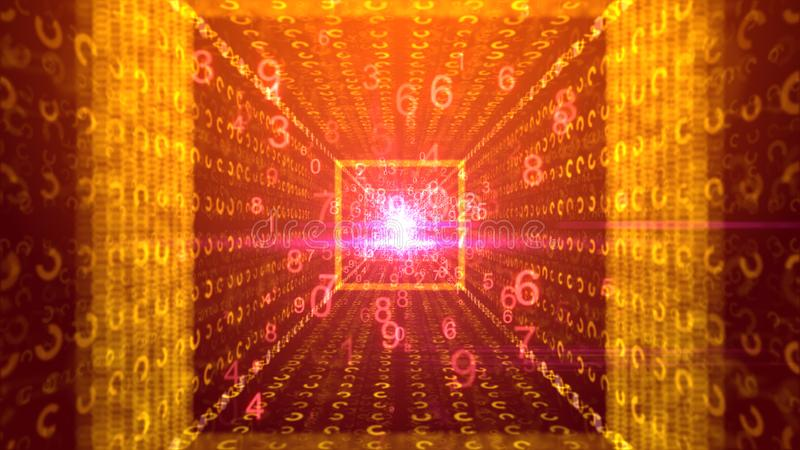 Abstrakcjonistyczny tło od promieni złote cyfry ilustracji