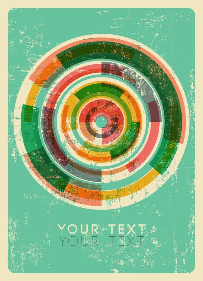abstrakcjonistyczny tło okrąża kolorowego ilustracji