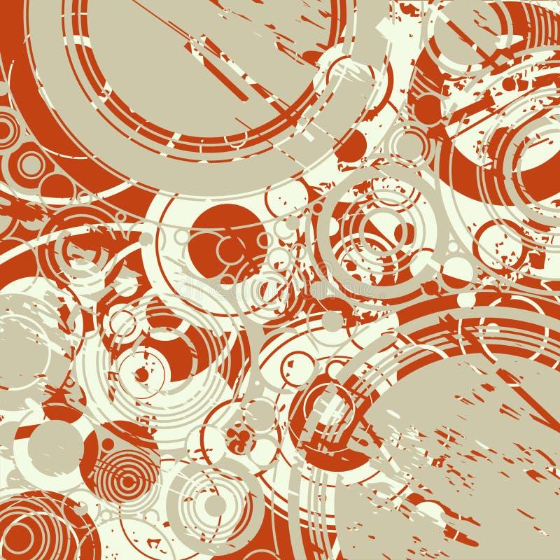 abstrakcjonistyczny tło okrąża retro ilustracja wektor