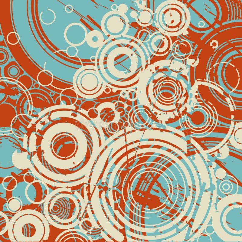 abstrakcjonistyczny tło okrąża retro royalty ilustracja