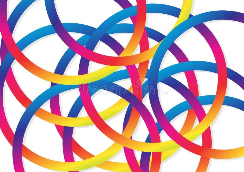 Abstrakcjonistyczny tło, okręgu pierścionku nasunięcie z kolorowym celebrat ilustracja wektor