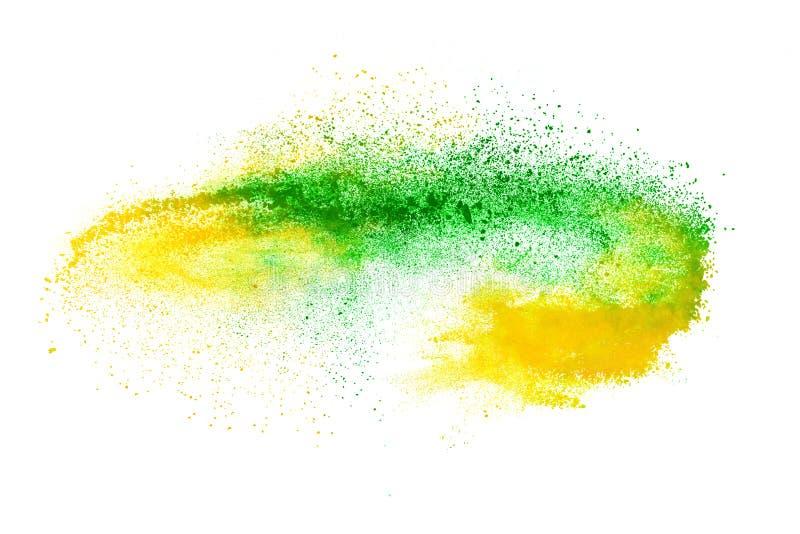 Abstrakcjonistyczny tło prochowy wybuch zdjęcie stock