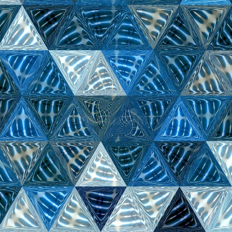 Abstrakcjonistyczny tło projekt, geometryczne linie wędkuje kształty w białych i błękitnych warstwach przejrzysty materiał fotografia stock
