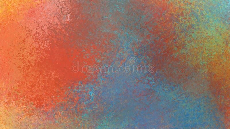 Abstrakcjonistyczny tło projekt w kolorowej pomarańczowej złocistej żółtej błękitnej zieleni i czerwonych kolorach ilustracja wektor