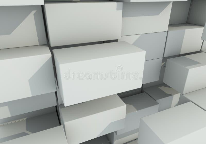 Download Abstrakcjonistyczny Tło Pudełko Pławik Ilustracji - Ilustracja złożonej z chrom, foremność: 28954075