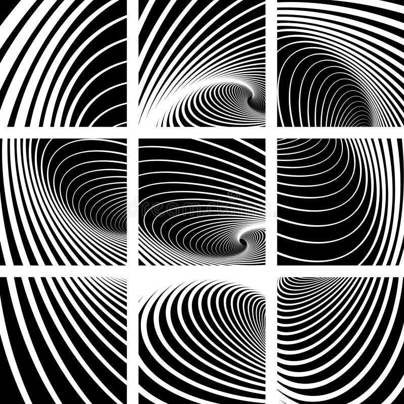 abstrakcjonistyczny tło ruchu kłębowisko royalty ilustracja