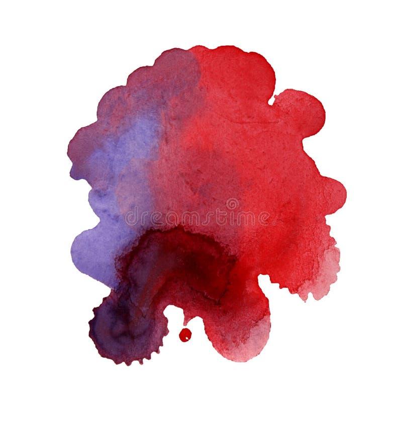 abstrakcjonistyczny tło rysująca ręki akwarela ilustracja wektor