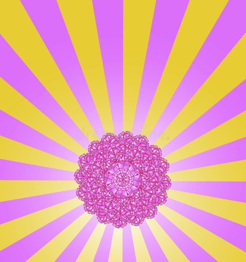 Abstrakcjonistyczny tło - słońce promienie obraz stock