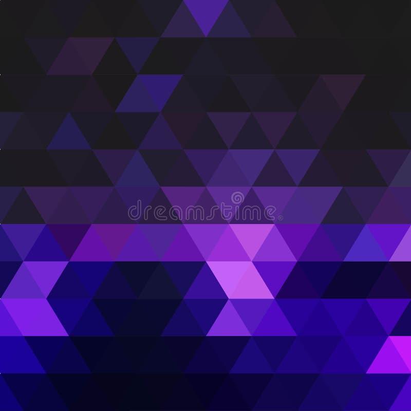Abstrakcjonistyczny tło składa się zmrok - błękitni trójboki Geometryczny projekt dla biznesowych prezentacj lub sieć szablonu sz ilustracji