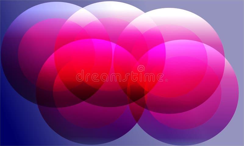 Abstrakcjonistyczny tło szablon i 3d royalty ilustracja