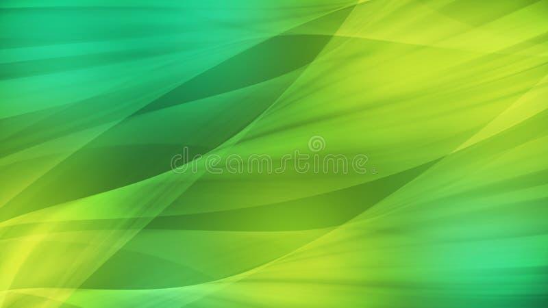 Abstrakcjonistyczny tło sztuki projekt, gładzi fala i zielone światło royalty ilustracja