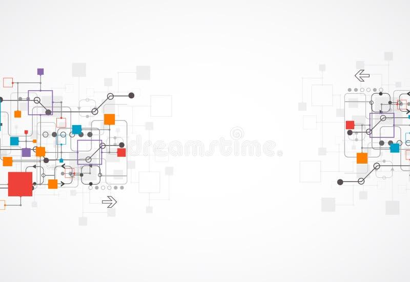 Abstrakcjonistyczny tło, technologia temat dla twój biznesu ilustracja wektor